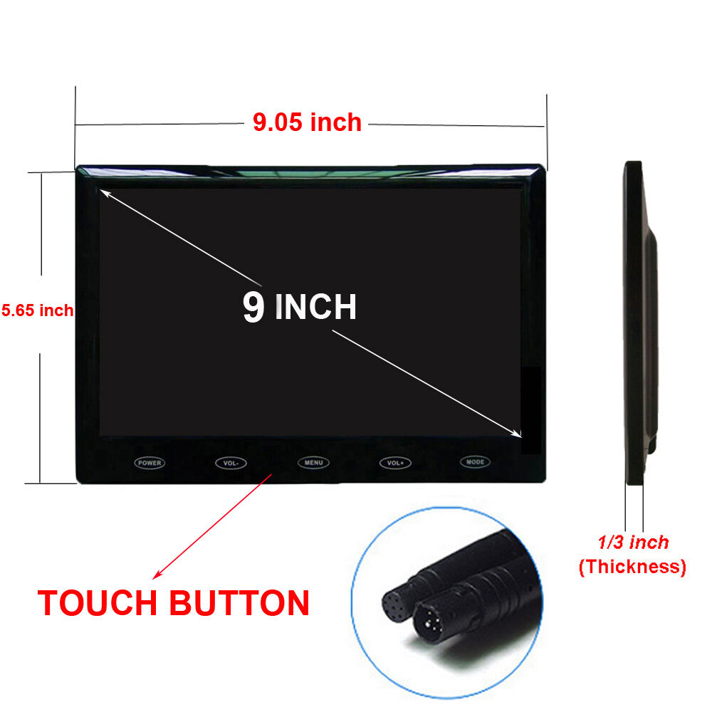 us 800x480 hd 9 ultra thin tft lcd color audio hdmi vga. Black Bedroom Furniture Sets. Home Design Ideas