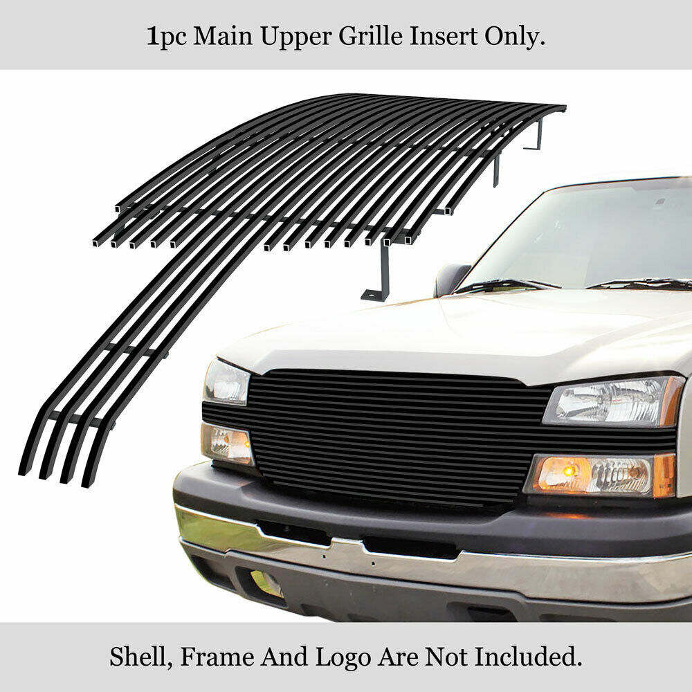 aluminum black billet grille 03 06 chevy avalanche 03 05 silverado 1500 637230834701 ebay. Black Bedroom Furniture Sets. Home Design Ideas