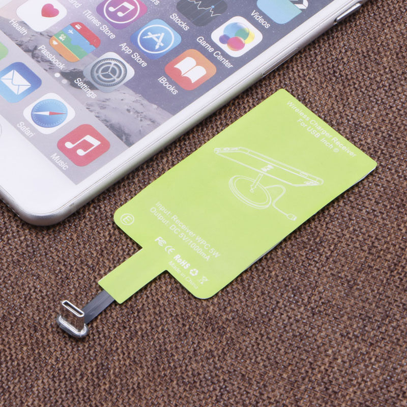 Usb Type C Sticker Qi Wireless Charging Charger Receiver
