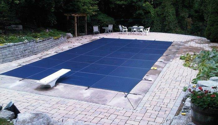 20x40 Rectangle Swimming Pool Winter Safety Cover Blue Mesh 15 Yr W 4 39 X8 39 Step Ebay