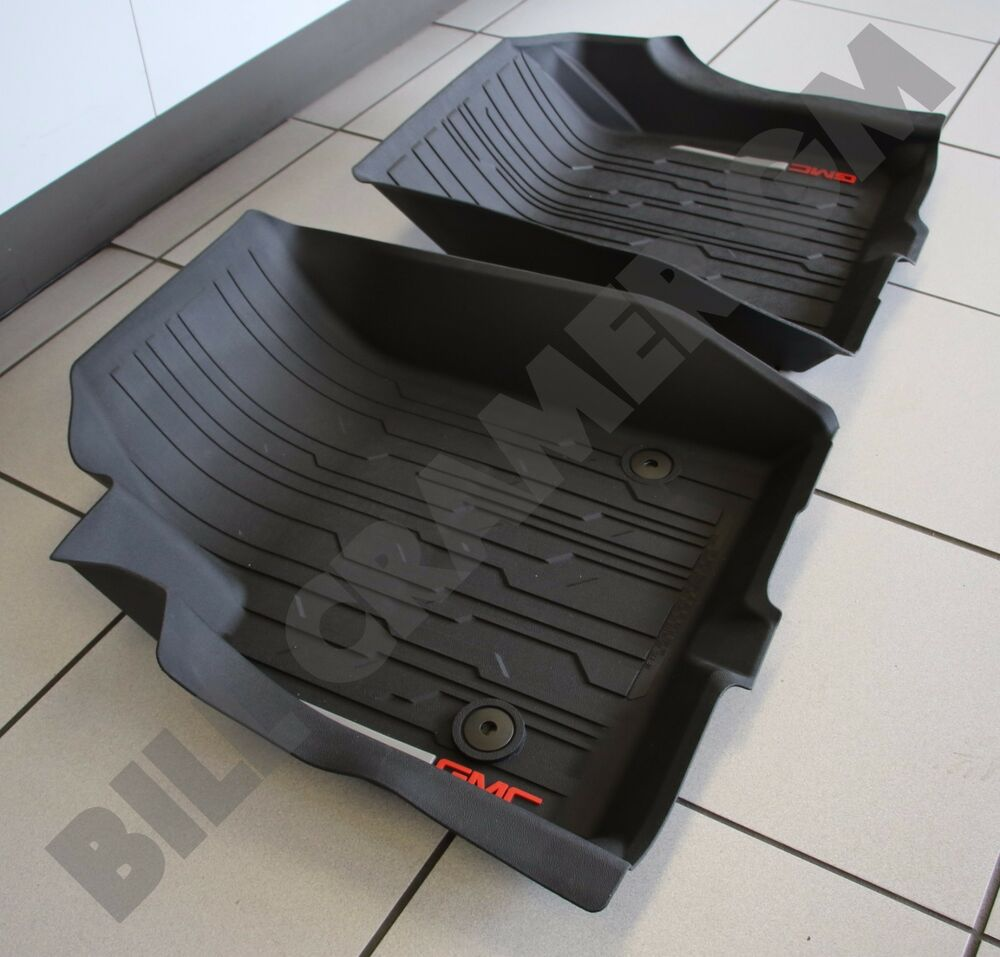 Weather Mats For Your Car >> 2017 GMC Acadia GM OEM All-Weather Front Floor Liners - Jet Black NEW | eBay