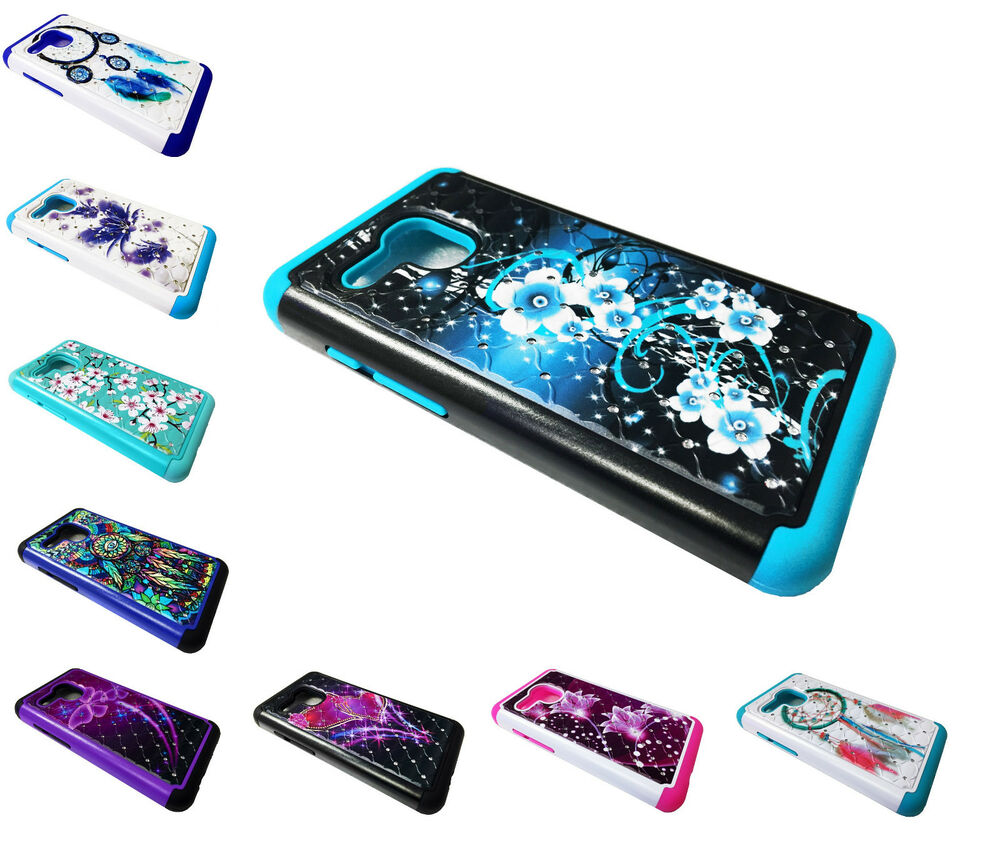 Sparkle Dual Hybrid Phone Cover Case For Alcatel One Touch ...