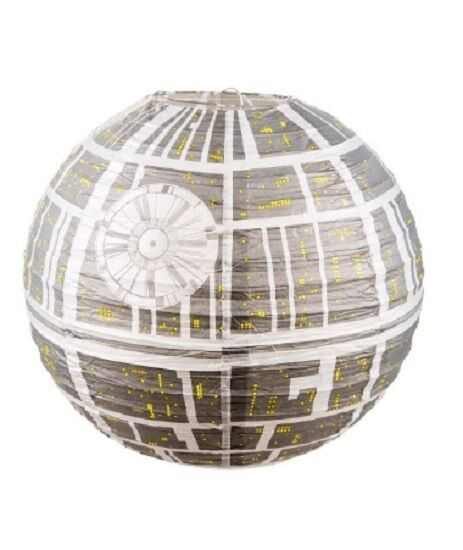 light lamp shade star wars death star paper ceiling. Black Bedroom Furniture Sets. Home Design Ideas