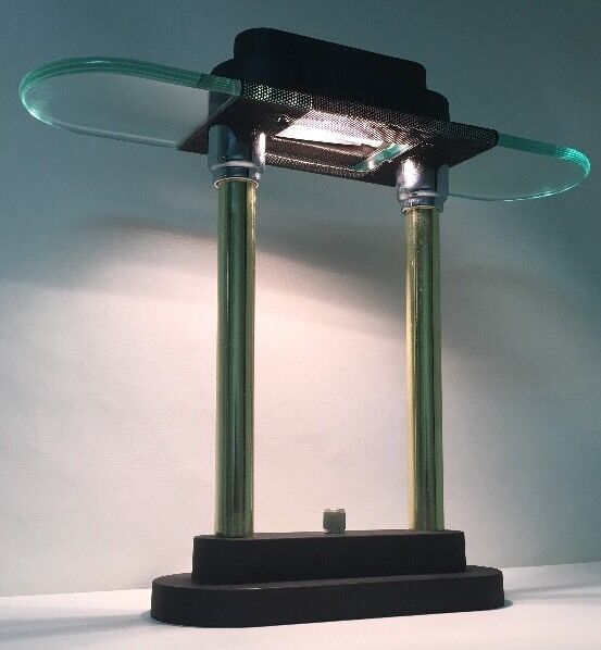 Desk Lamp With Dimmer : Vintage s brass glass george kovacs table desk lamp
