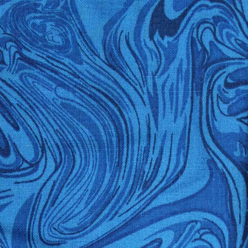 108 Quot Wide Marblecious Royal Blue Cotton Quilt Backing