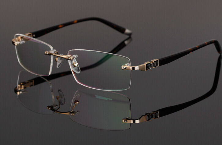 Rimless Eyeglass Frames Designer : Designer Rimless Frames Readers Reading Glasses Eyeglass ...