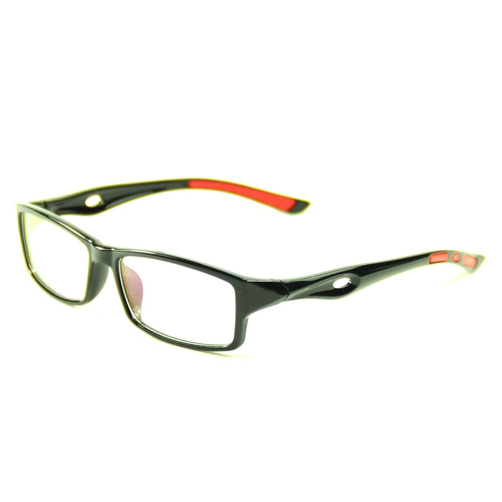 Men s European Eyeglass Frames : Sporty Mens Eyeglass Frames Full Rim Rectangular Glasses ...