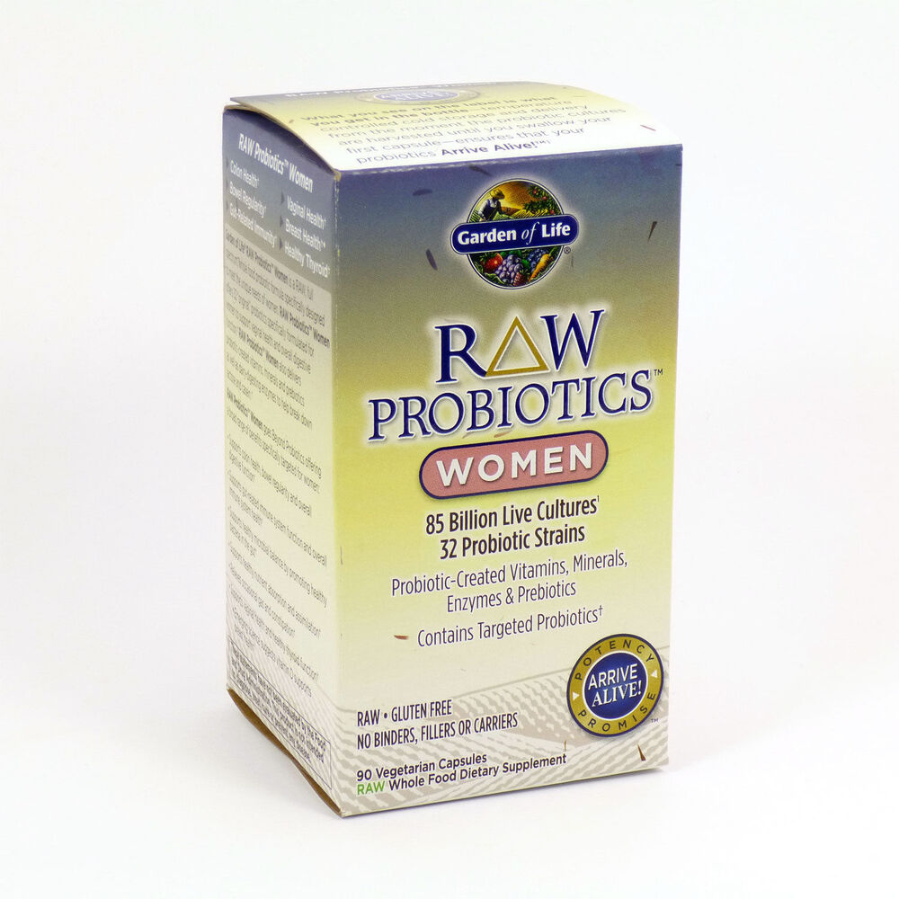Garden Of Life Raw Probiotics Women 90 Caps 85 Billion Cultures Prebiotic Enzyme 658010115674 Ebay