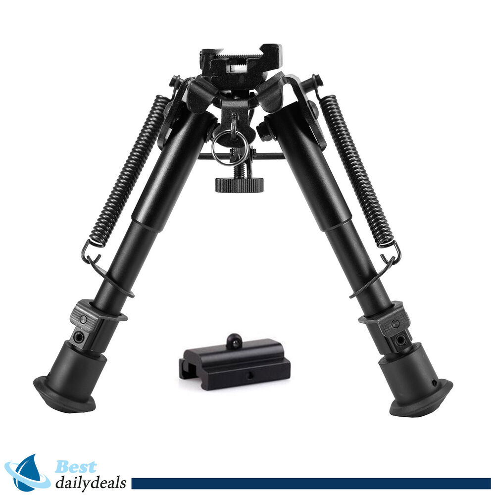 6''-9'' Adjustable Universal Rifle Bipod w/Swivel Stud Mount& Rail Mount Adapter | eBay