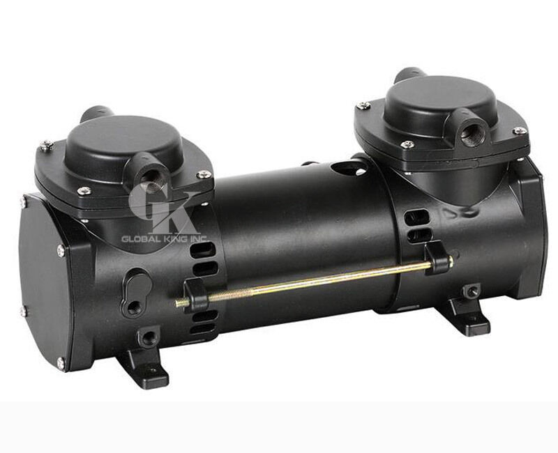 Air Vacuum Pump : Dc v oilless mini air pump double stage micro brushless