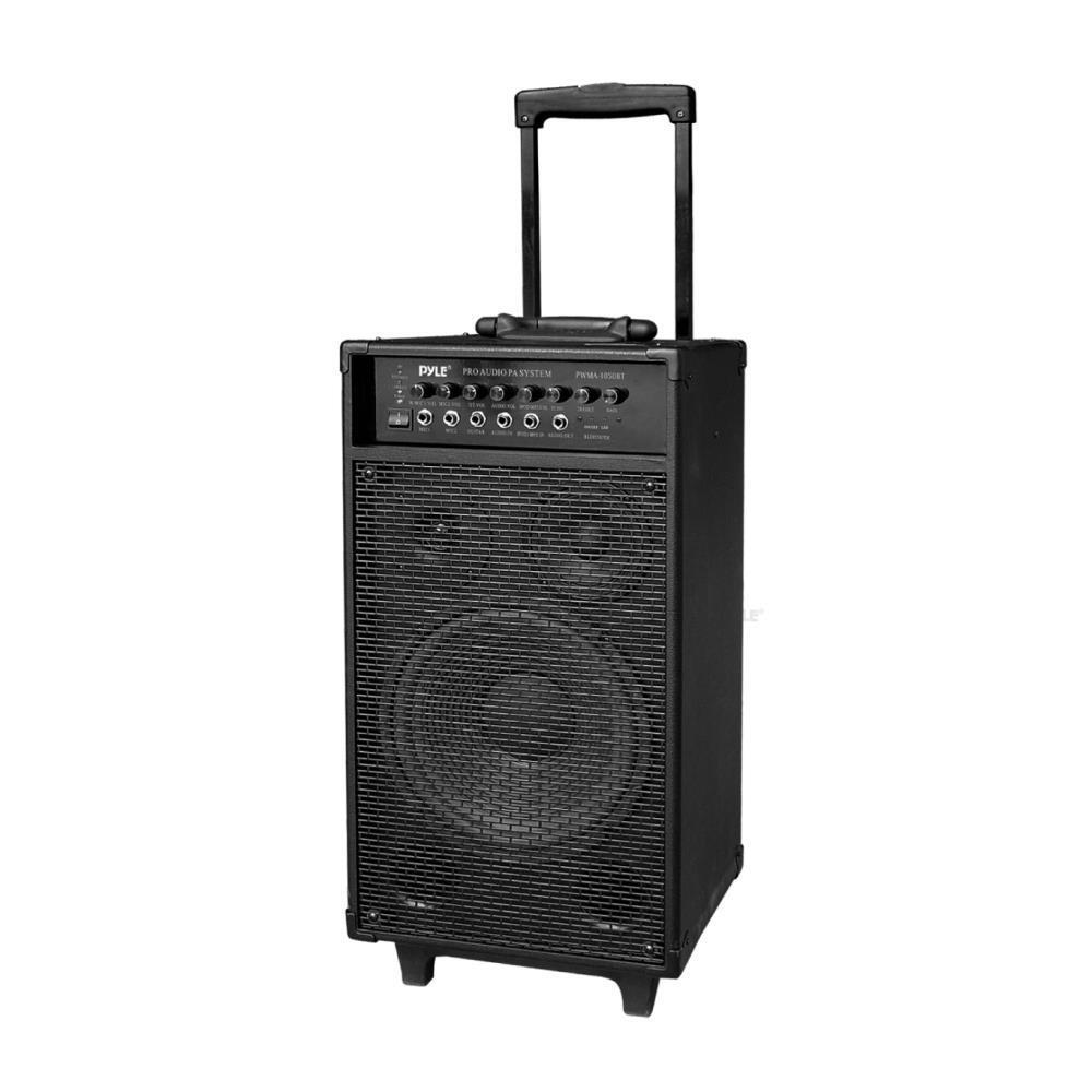 new pyle pwma1050bt 800w wireless portable bluetooth pa system with microphone ebay. Black Bedroom Furniture Sets. Home Design Ideas