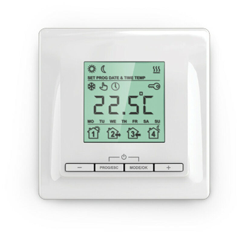 digitales up thermostat f r elektrische fussbodenheizung. Black Bedroom Furniture Sets. Home Design Ideas