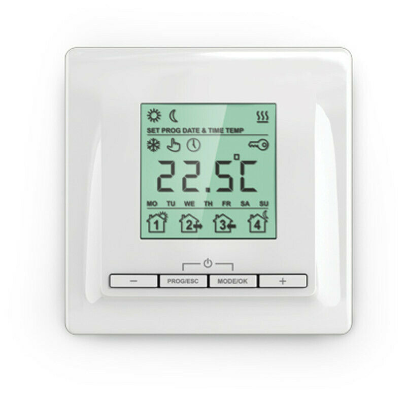 digitales up thermostat f r elektrische fussbodenheizung ebay. Black Bedroom Furniture Sets. Home Design Ideas