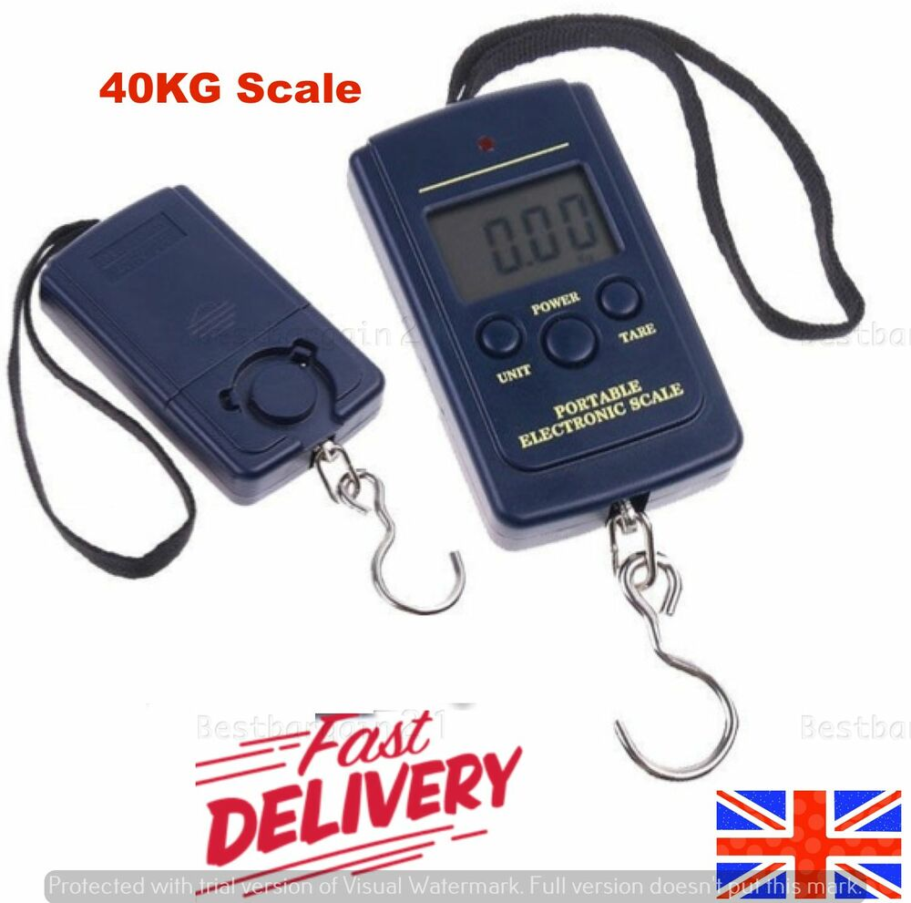 40kg digital lcd scale balance fishing hanging pocket for Mlf fishing scale