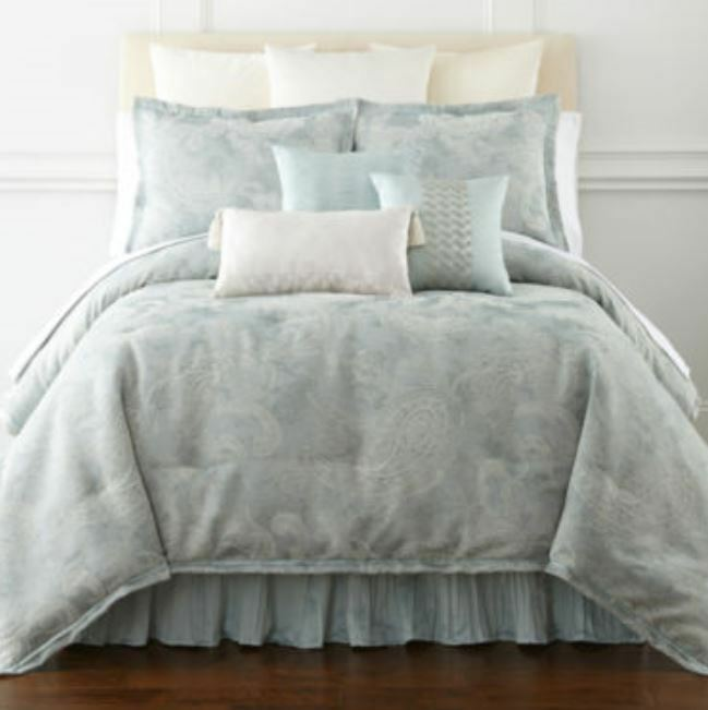 Royal Velvet 4 Pc Full Size Comforter Set Blue Frost Ebay