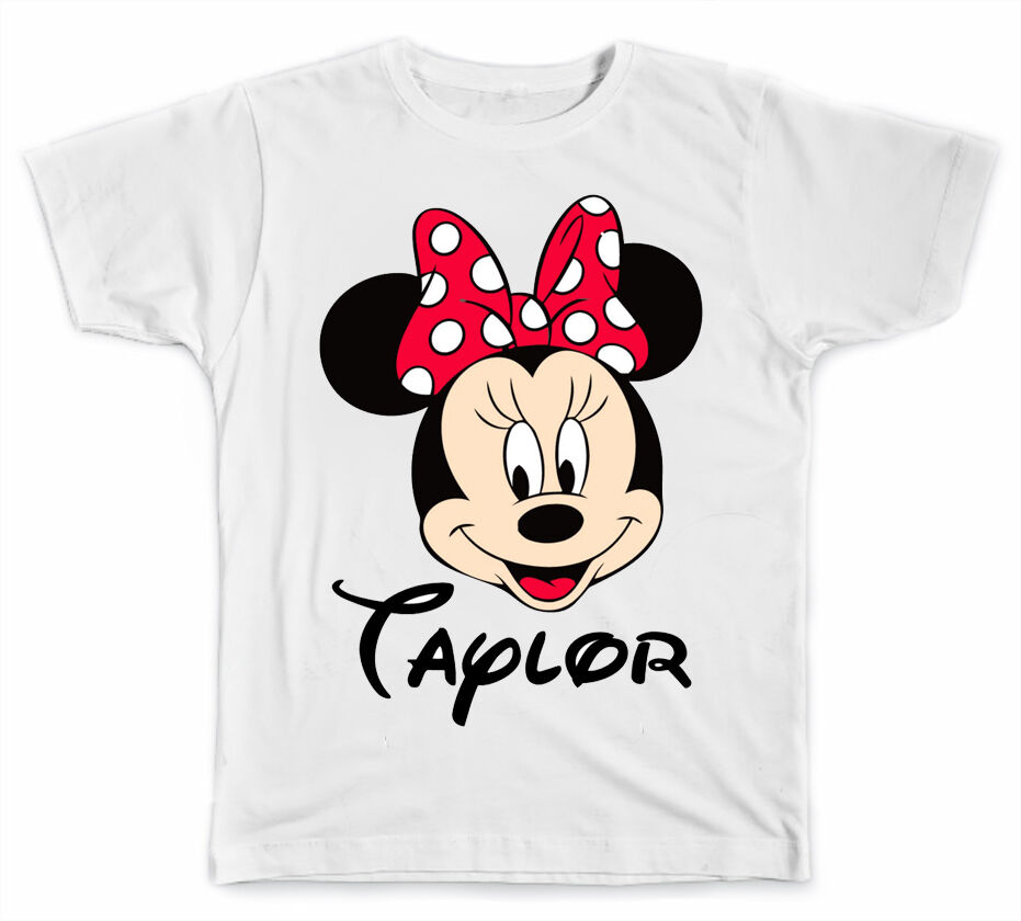 Personalized Disney Minnie Mouse Face T Shirt Ebay