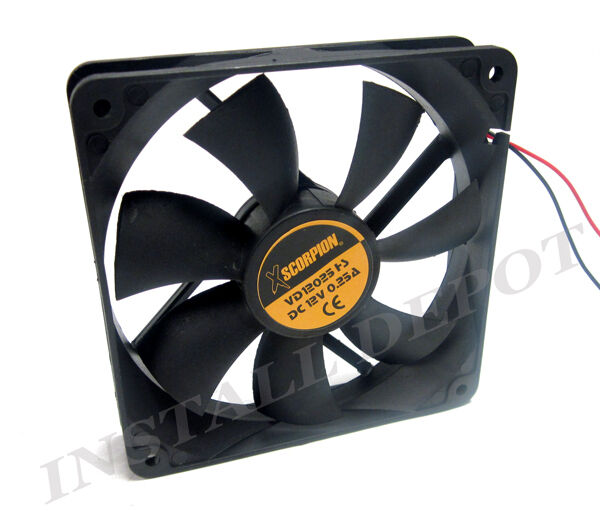 Large 12 Volt Fan : Xscorpion volt large amp cooling fan car audio v