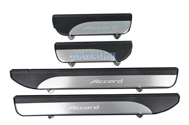 4 Pcs Stainless Door Sill Plate Guard For Accord 2013 2014