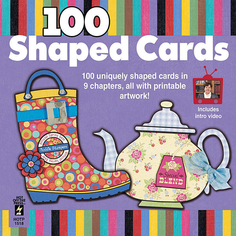 100 SHAPED CARDS CD-Birthday/Greeting Card/Cardmaking