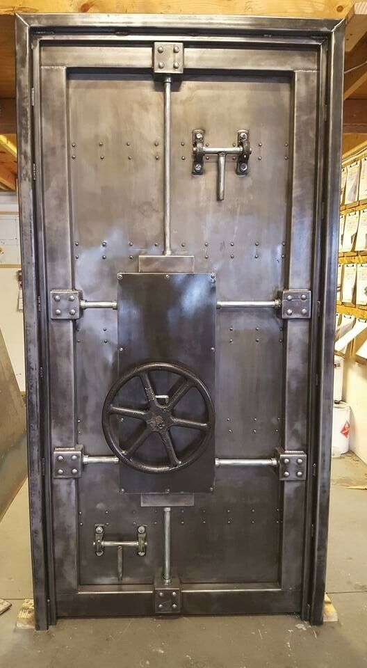 Working Vintage Industrial Bank Vault Door Made In Usa