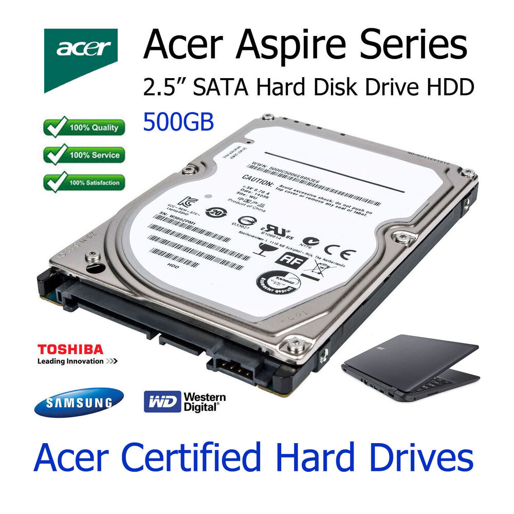 500GB Acer Aspire 3100 25 SATA Laptop Hard Disk Drive