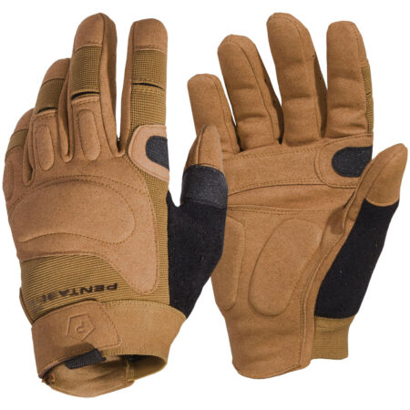 img-Pentagon Karia Gloves Duty Tactical Combat Suede Extra Palm Airsoft Wear Coyote