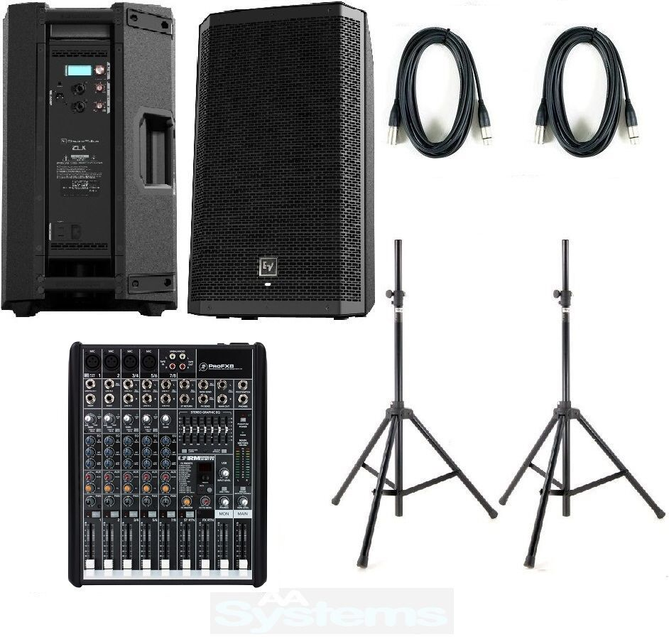 ev zlx15p mackie profx8 complete active pa system band dj zlx15p electrovoice ebay. Black Bedroom Furniture Sets. Home Design Ideas