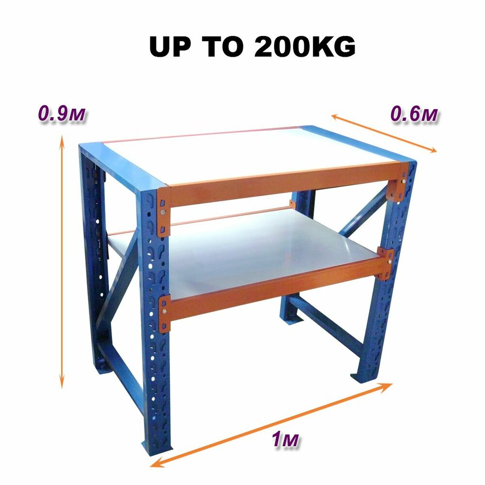 1m X 0 6m New Work Bench Warehouse Garage Metal Steel Storage Shelving Racking Ebay
