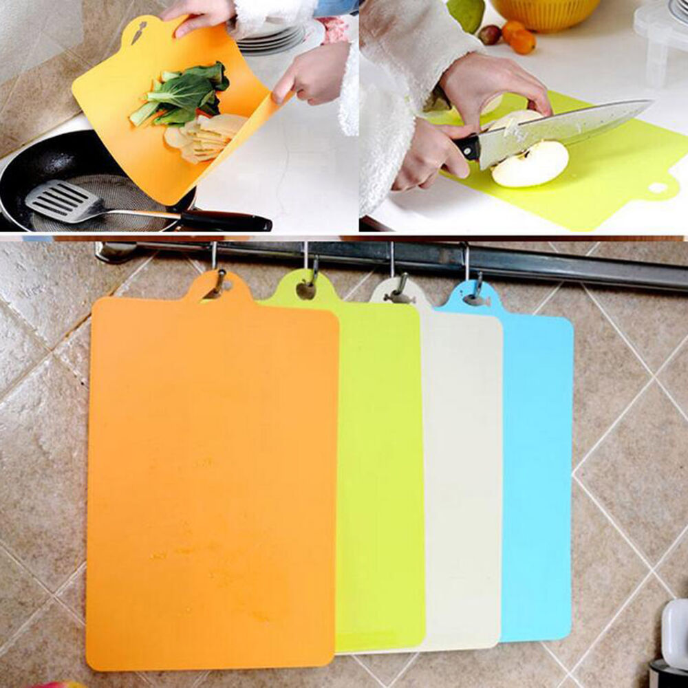Kitchen Cooking Tools Flexible Plastic Cutting Board Food