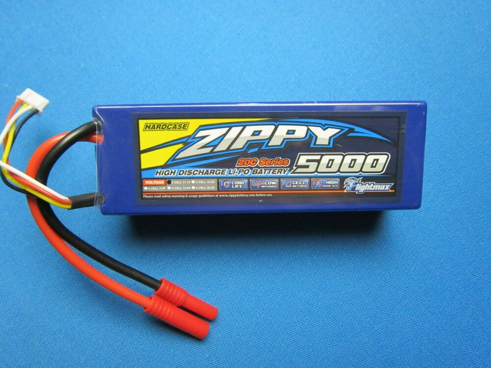 zippy 5000mah 3s lipo battery 11 1v 20c 30c hardcase hxt. Black Bedroom Furniture Sets. Home Design Ideas