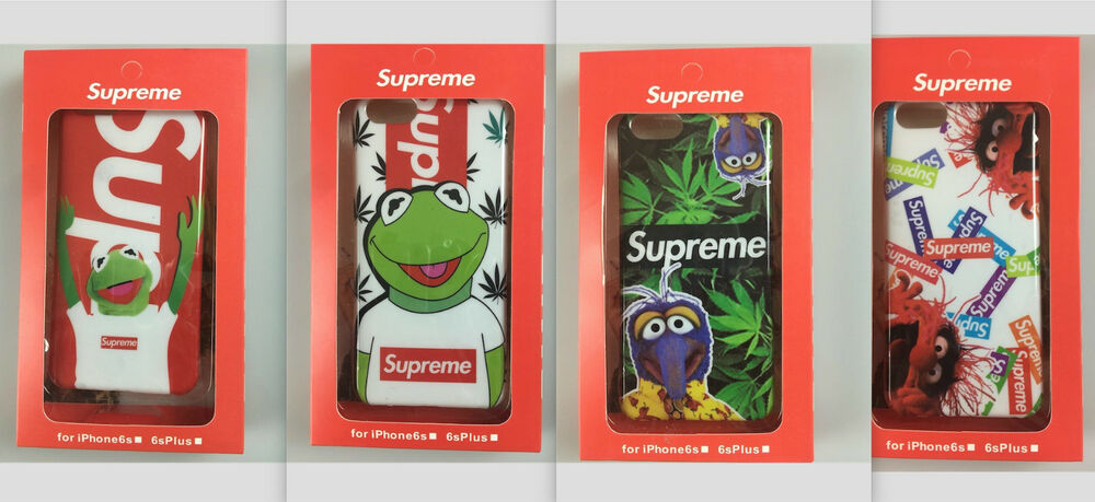 supreme iphone cases 6 s plus 7 8 x lot kermit frog case. Black Bedroom Furniture Sets. Home Design Ideas