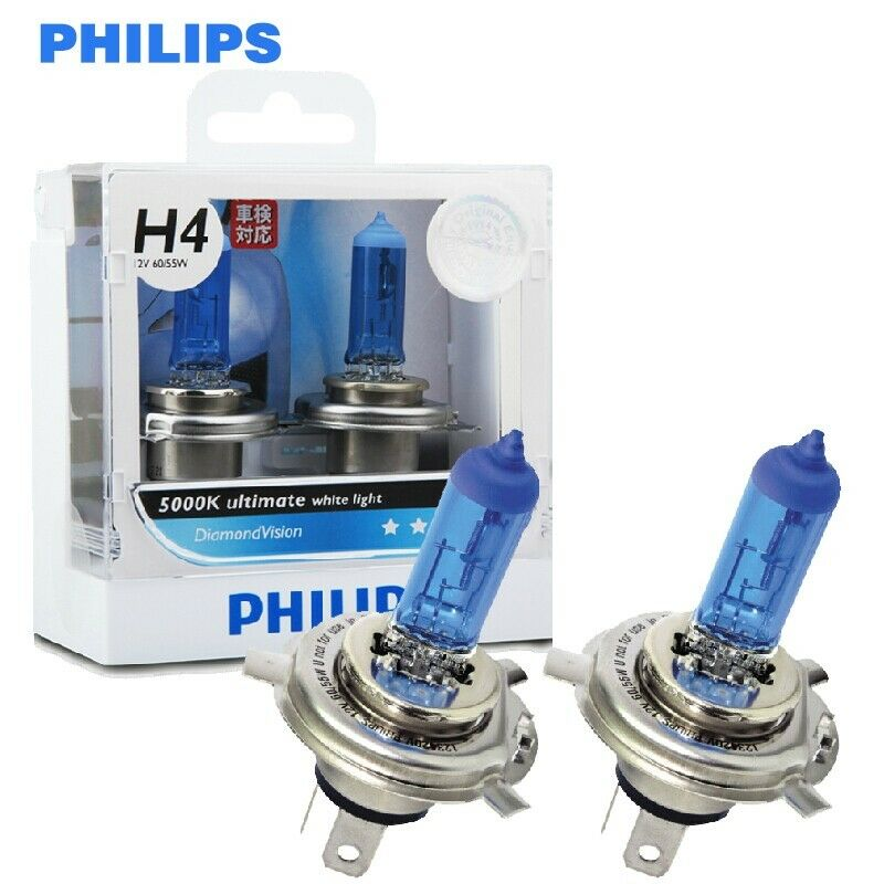 2x philips hb3 hb4 h1 h3 h4 h7 h8 h9 h11 diamond vision 5000k halogen bulbs fog ebay. Black Bedroom Furniture Sets. Home Design Ideas