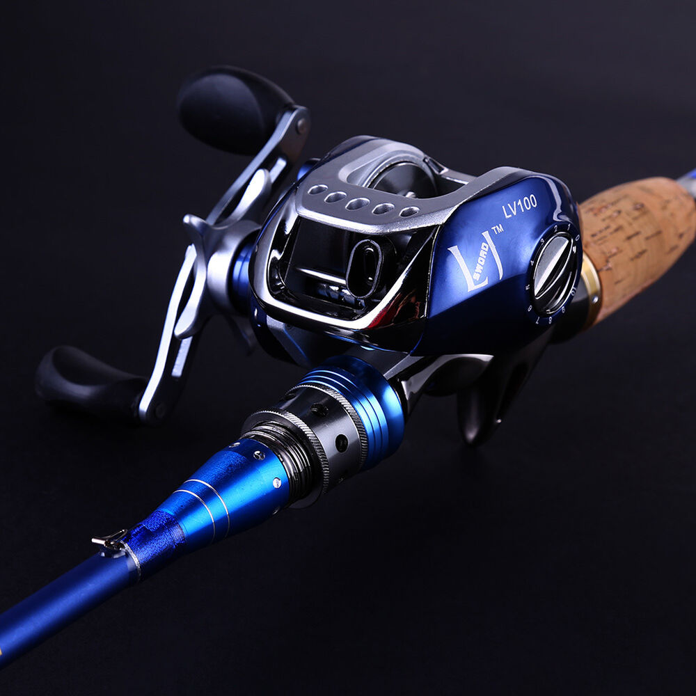Baitcasting fishing rod saltwater spinning fishing pole for Fishing pole reel