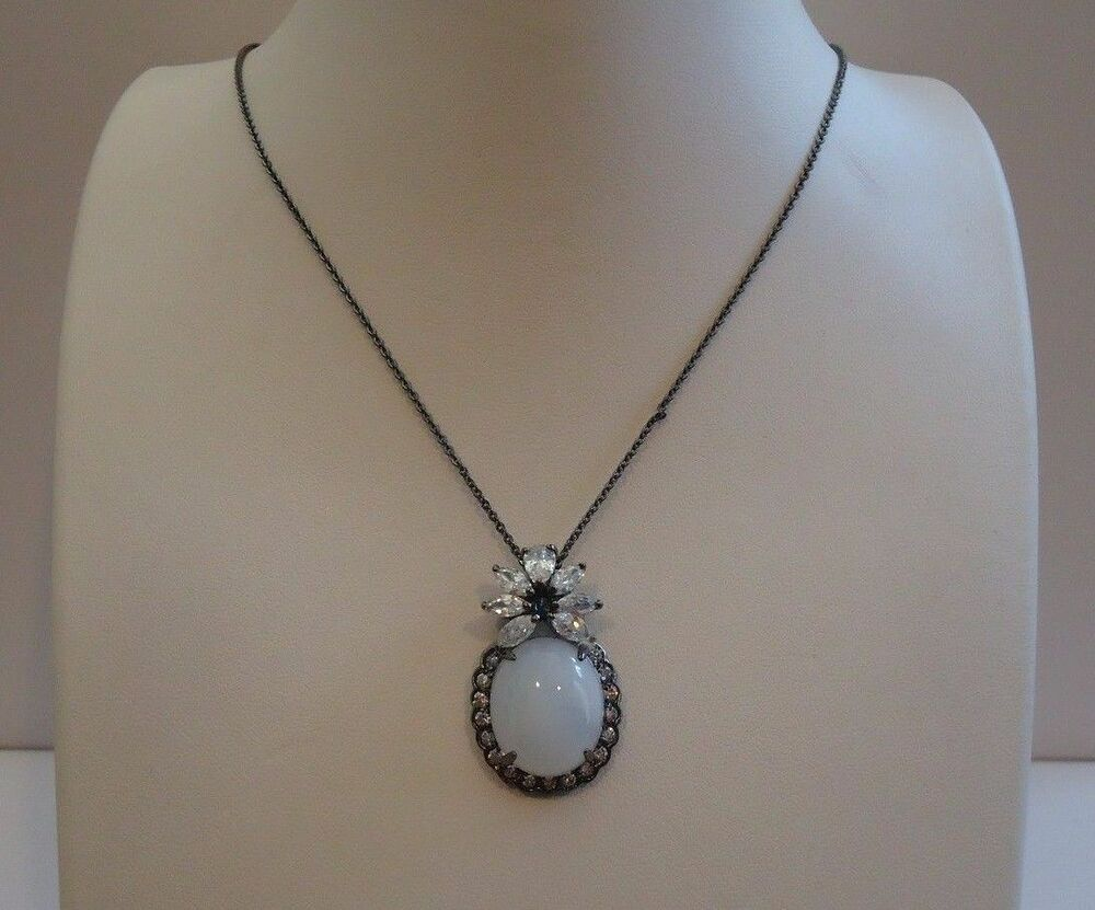 925 sterling silver vintage necklace pendant w moonstone for Cat s eye moonstone jewelry
