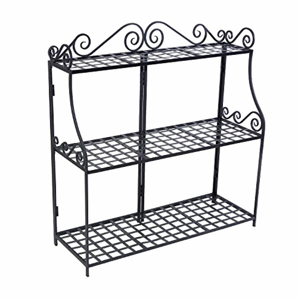 Details About 3 Tier Plant Stand Home Garden Yard Outdoor Patio Level Style Decor Black New