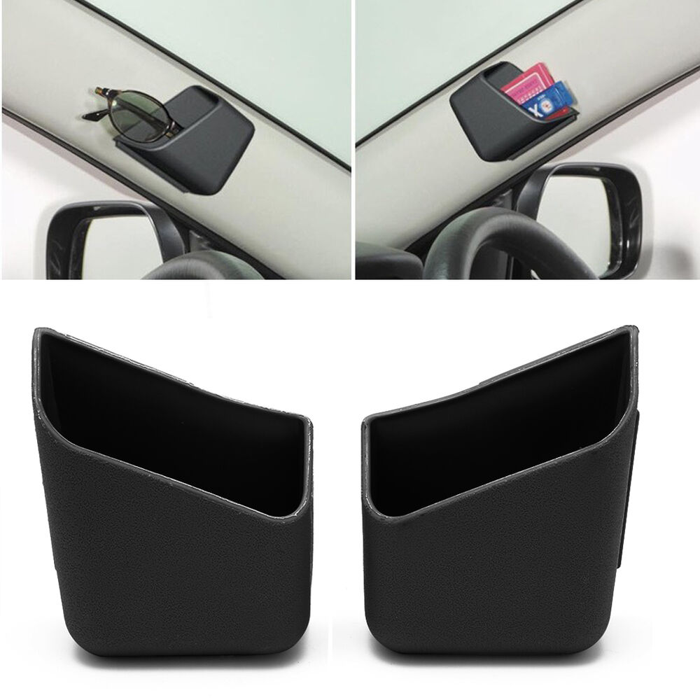 1pair black universal car auto accessories glasses organizer storage box holder ebay. Black Bedroom Furniture Sets. Home Design Ideas
