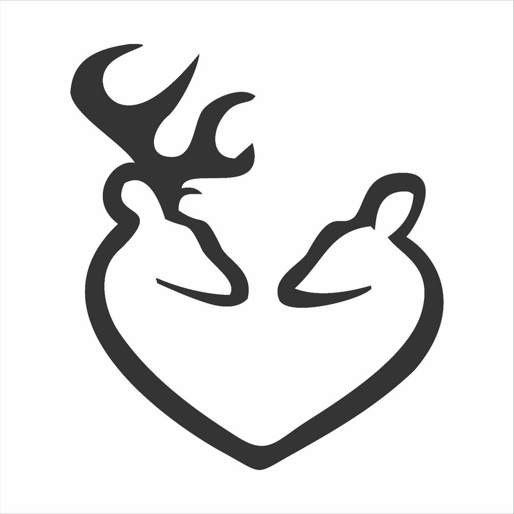 Deer Heart Decal / Sticker - Choose Size & Color ...