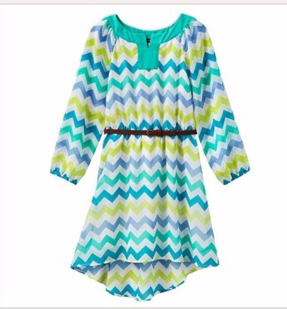 My michelle long sleeve chevron dress girls clothes size for Girls shirts size 8