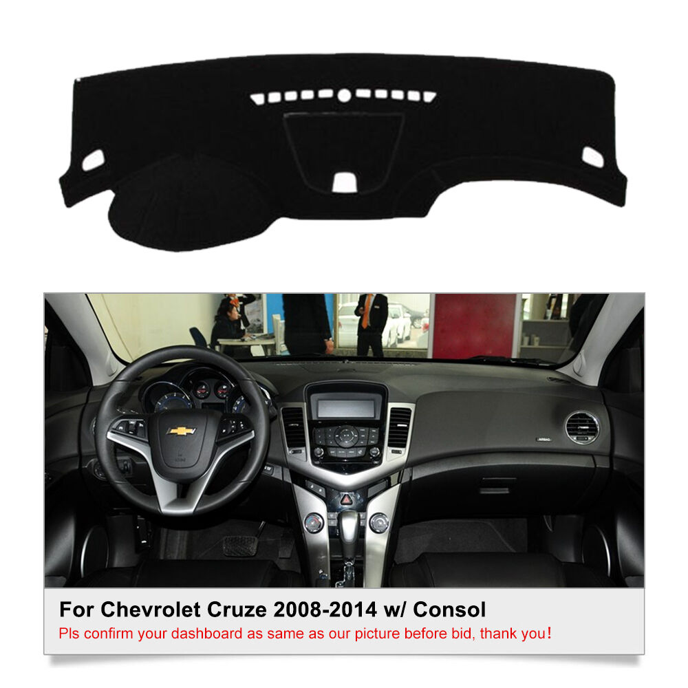 dashmat dash cover mat for chevrolet cruze 2010 2014 w consol dashboard cover ebay. Black Bedroom Furniture Sets. Home Design Ideas