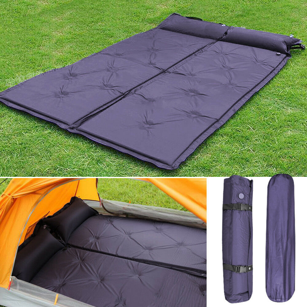 Camping Mattress: 2 Self-Inflating Air Mattress Pad Sleeping Bed Outdoor