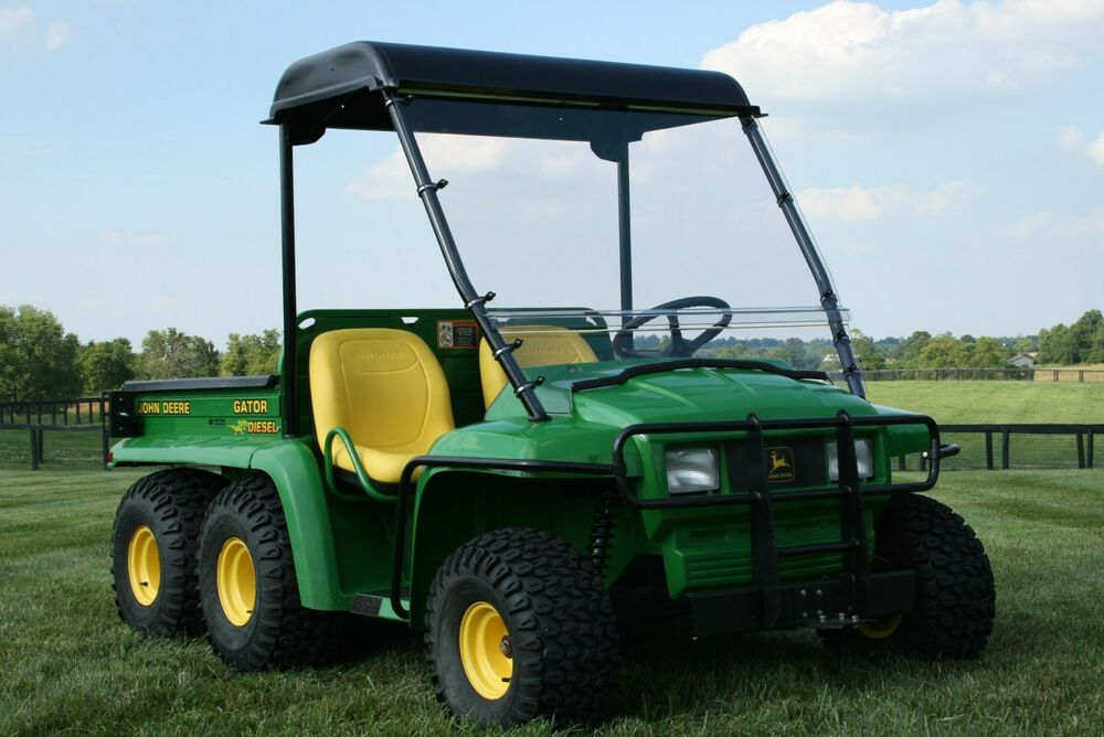 john deere gator 1993 2008 6x4 th frame roof windshield. Black Bedroom Furniture Sets. Home Design Ideas