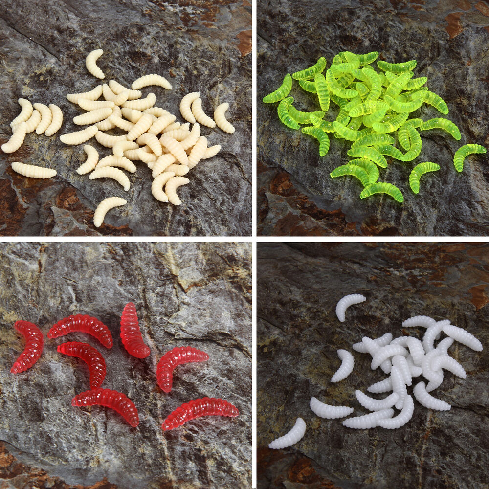 200pcs soft plastic fishing lures baits maggots grubs for How to fish with plastic worms
