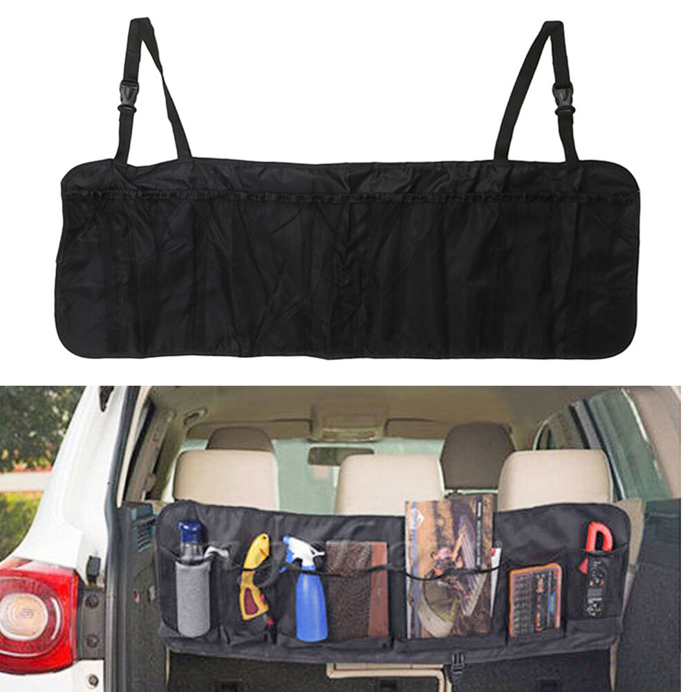 car seat back tidy organiser multi pocket bag auto travel storage hanging holder 665223861359. Black Bedroom Furniture Sets. Home Design Ideas
