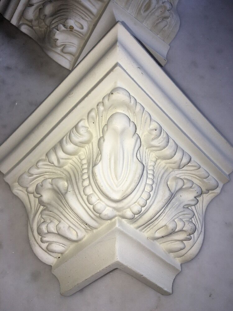 Lot 10foam Corner Blocks Crown Molding Acanthus Mitre Fit