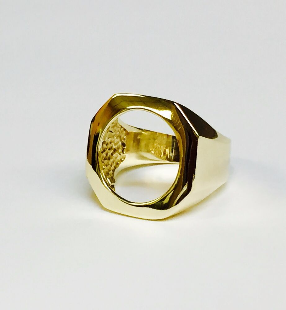 Mens Coin Ring Mounts