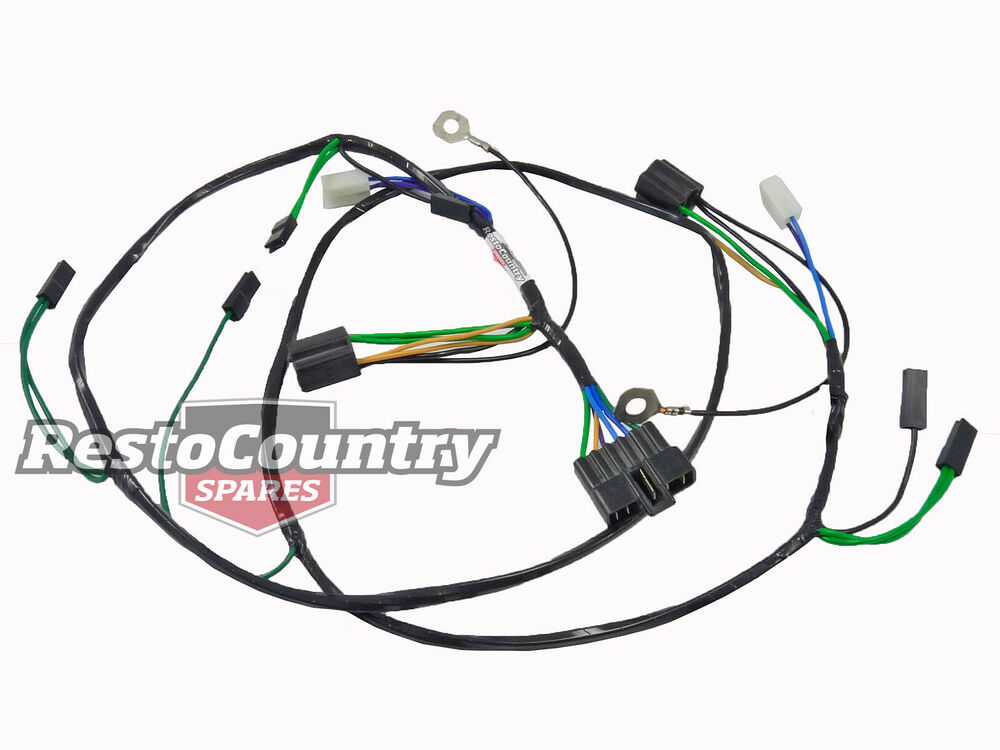 holden twin headlight  horn wiring loom    harness hx hz h4