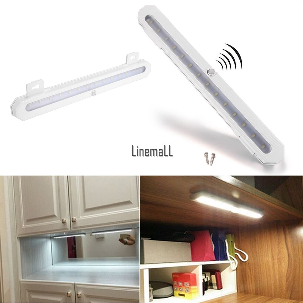 14 led battery pir motion sensor night light closet. Black Bedroom Furniture Sets. Home Design Ideas