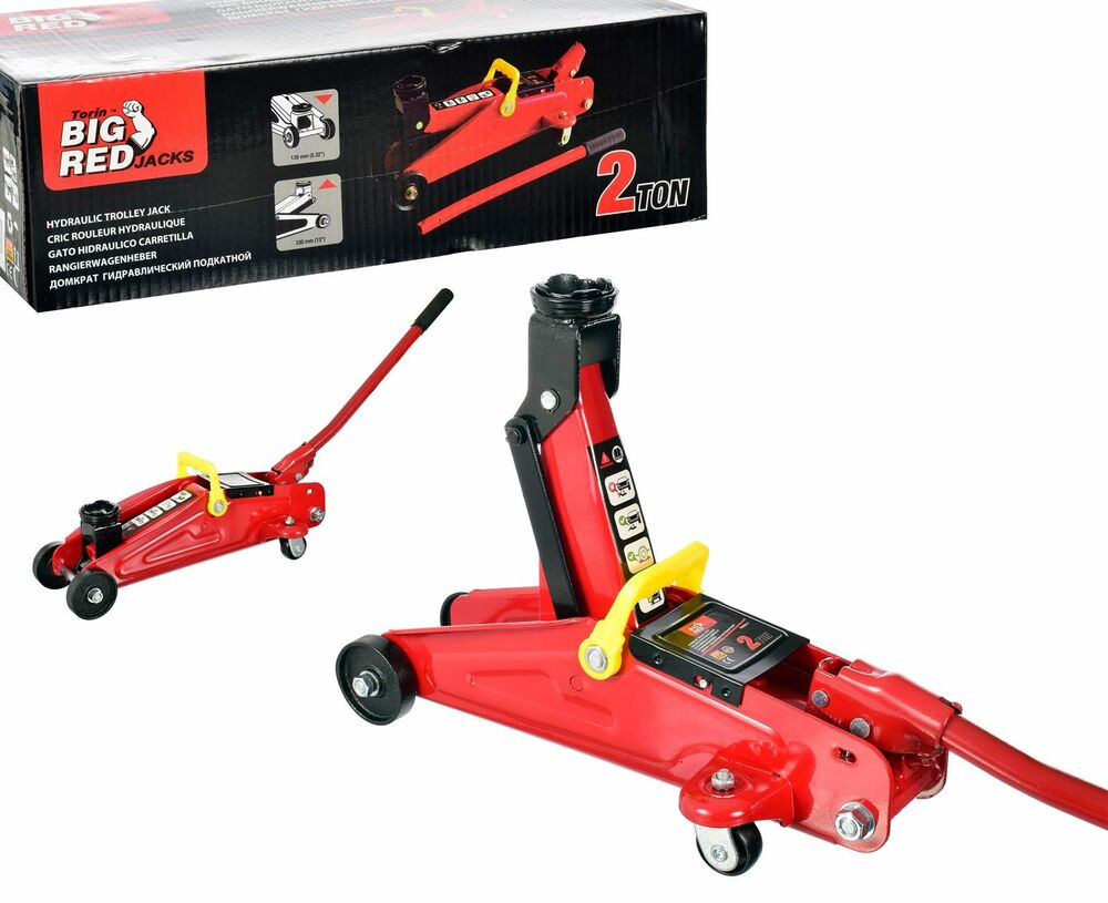 2 Ton Hydraulic Trolley Floor Jack Car Van Garage 135 ...