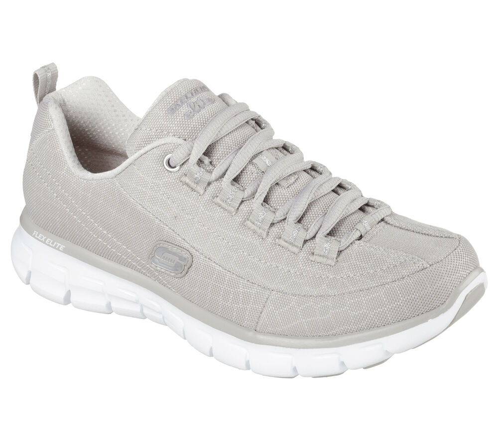 11967 taupe skechers shoes memory foam new athletic