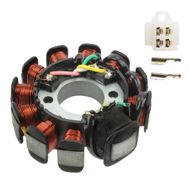 magneto stator 11 poles coil gy6 motorcycle scooter moped. Black Bedroom Furniture Sets. Home Design Ideas